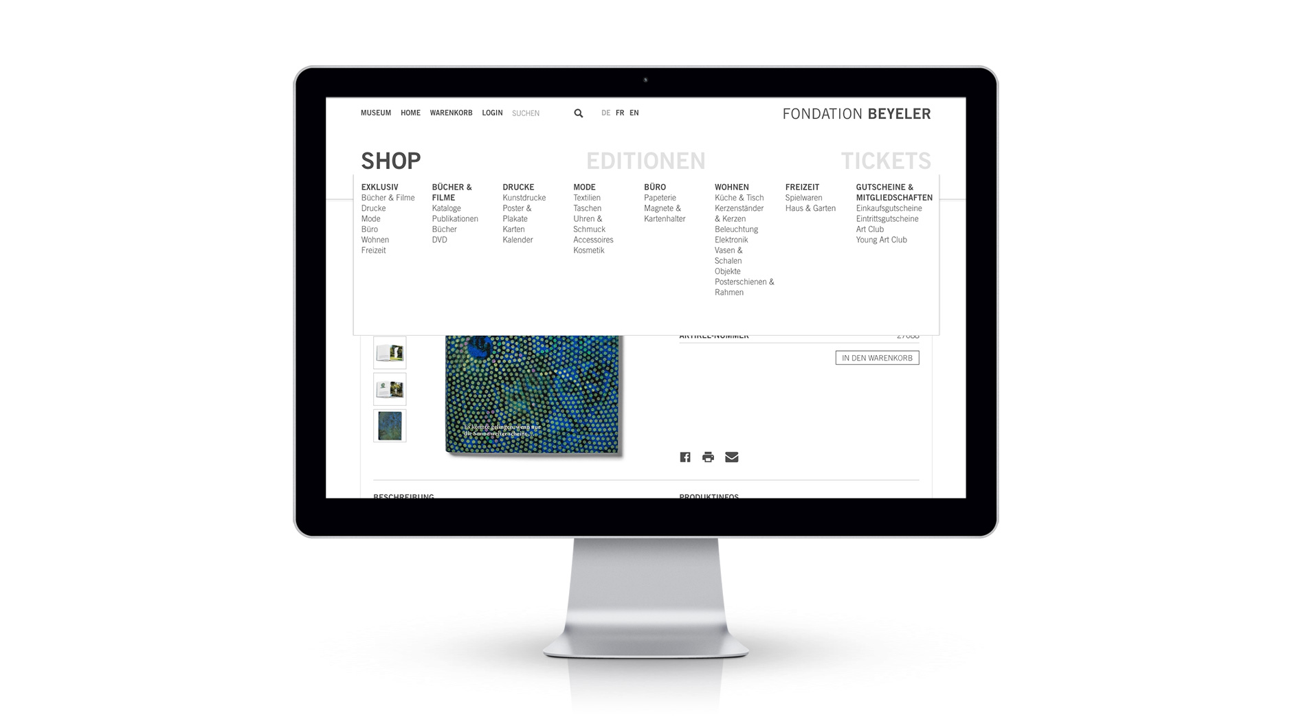 Fondation Beyeler Shop Responsive Editionen